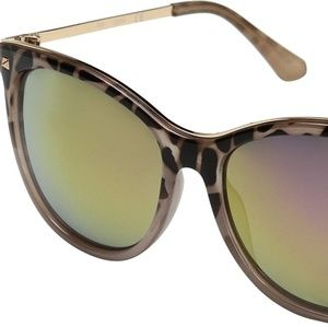 GUESS (Pink Tort/Rose Gold Mirror Lens) Sunglasses